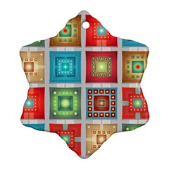 Tiles Pattern Background Colorful Ornament (snowflake)