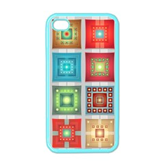 Tiles Pattern Background Colorful Apple Iphone 4 Case (color)