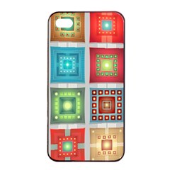 Tiles Pattern Background Colorful Apple Iphone 4/4s Seamless Case (black)