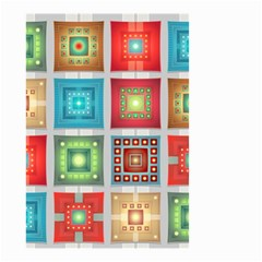 Tiles Pattern Background Colorful Small Garden Flag (two Sides)