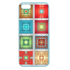 Tiles Pattern Background Colorful Apple Seamless Iphone 5 Case (color)