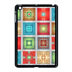 Tiles Pattern Background Colorful Apple iPad Mini Case (Black)