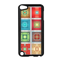 Tiles Pattern Background Colorful Apple Ipod Touch 5 Case (black)