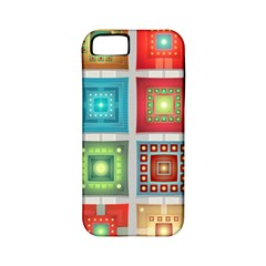 Tiles Pattern Background Colorful Apple Iphone 5 Classic Hardshell Case (pc+silicone)