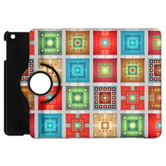 Tiles Pattern Background Colorful Apple Ipad Mini Flip 360 Case