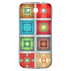Tiles Pattern Background Colorful Samsung Galaxy S3 S Iii Classic Hardshell Back Case