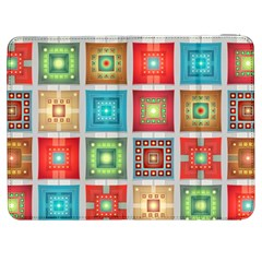 Tiles Pattern Background Colorful Samsung Galaxy Tab 7  P1000 Flip Case