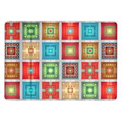 Tiles Pattern Background Colorful Samsung Galaxy Tab 10 1  P7500 Flip Case