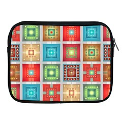 Tiles Pattern Background Colorful Apple Ipad 2/3/4 Zipper Cases