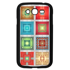 Tiles Pattern Background Colorful Samsung Galaxy Grand DUOS I9082 Case (Black)