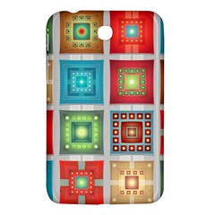 Tiles Pattern Background Colorful Samsung Galaxy Tab 3 (7 ) P3200 Hardshell Case