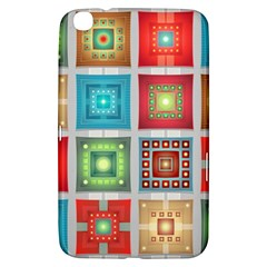 Tiles Pattern Background Colorful Samsung Galaxy Tab 3 (8 ) T3100 Hardshell Case