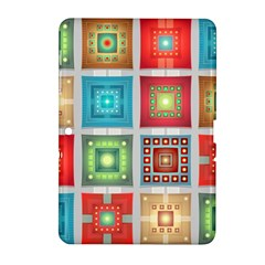 Tiles Pattern Background Colorful Samsung Galaxy Tab 2 (10 1 ) P5100 Hardshell Case