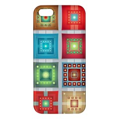 Tiles Pattern Background Colorful Iphone 5s/ Se Premium Hardshell Case
