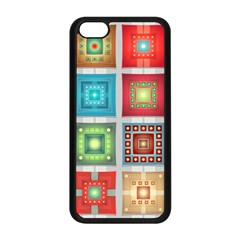 Tiles Pattern Background Colorful Apple Iphone 5c Seamless Case (black)