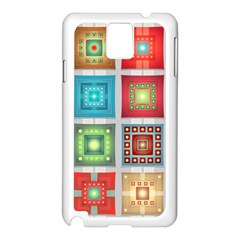 Tiles Pattern Background Colorful Samsung Galaxy Note 3 N9005 Case (white)