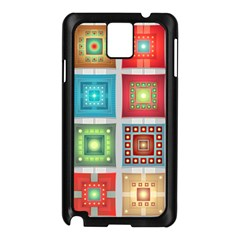 Tiles Pattern Background Colorful Samsung Galaxy Note 3 N9005 Case (black)