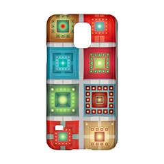 Tiles Pattern Background Colorful Samsung Galaxy S5 Hardshell Case