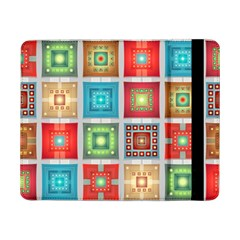 Tiles Pattern Background Colorful Samsung Galaxy Tab Pro 8 4  Flip Case