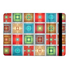 Tiles Pattern Background Colorful Samsung Galaxy Tab Pro 10 1  Flip Case