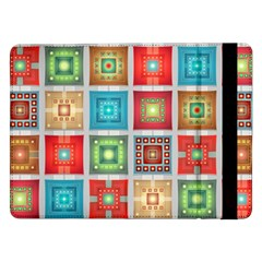 Tiles Pattern Background Colorful Samsung Galaxy Tab Pro 12 2  Flip Case