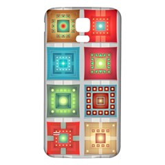 Tiles Pattern Background Colorful Samsung Galaxy S5 Back Case (white)