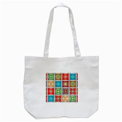 Tiles Pattern Background Colorful Tote Bag (white)