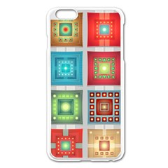 Tiles Pattern Background Colorful Apple Iphone 6 Plus/6s Plus Enamel White Case