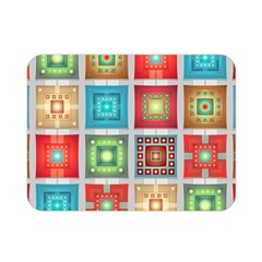 Tiles Pattern Background Colorful Double Sided Flano Blanket (mini)
