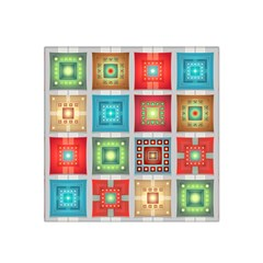 Tiles Pattern Background Colorful Satin Bandana Scarf
