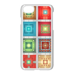 Tiles Pattern Background Colorful Apple Iphone 7 Seamless Case (white)