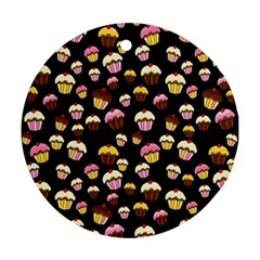 Jammy cupcakes pattern Ornament (Round)