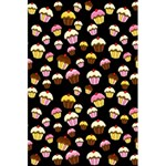 Jammy cupcakes pattern 5.5  x 8.5  Notebooks Back Cover