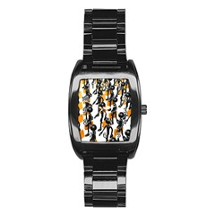 Business Men Marching Concept Stainless Steel Barrel Watch