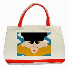 Close Your Eyes Classic Tote Bag (red)