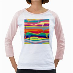 Colorfull Rainbow Girly Raglans