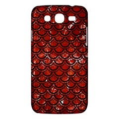 Scales2 Black Marble & Red Marble (r) Samsung Galaxy Mega 5 8 I9152 Hardshell Case