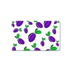 Decorative plums pattern Magnet (Name Card)