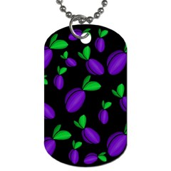 Plums pattern Dog Tag (One Side)