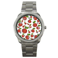 Peaches pattern Sport Metal Watch