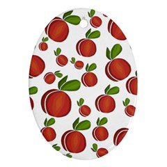 Peaches pattern Oval Ornament (Two Sides)