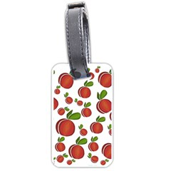 Peaches pattern Luggage Tags (One Side)