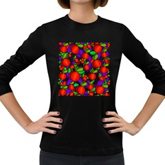 Peaches and plums Women s Long Sleeve Dark T-Shirts