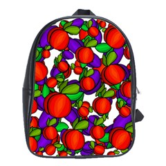Peaches and plums School Bags(Large)
