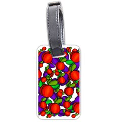 Peaches and plums Luggage Tags (One Side)