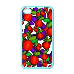 Peaches And Plums Apple Iphone 4 Case (color)