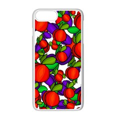 Peaches And Plums Apple Iphone 7 Plus White Seamless Case