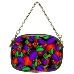 Plums and peaches Chain Purses (One Side)