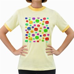 Macaroons Women s Fitted Ringer T-Shirts