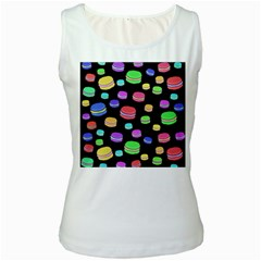 Colorful macaroons Women s White Tank Top